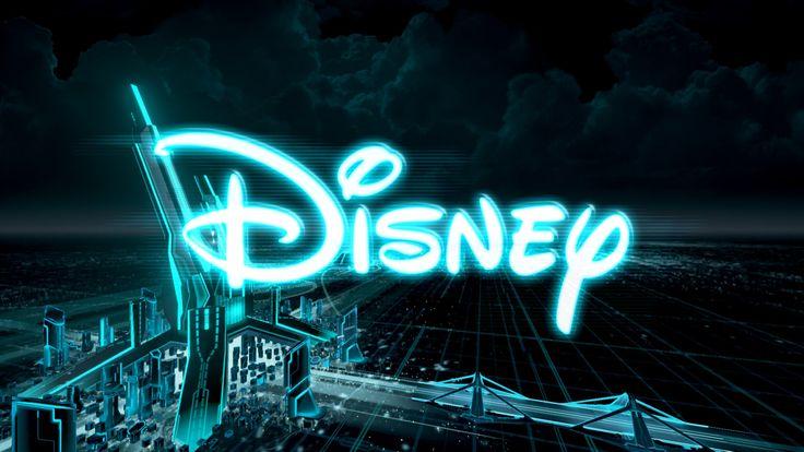 Disney logo in TRON RUN/r Disney logo, Tron, Neon signs