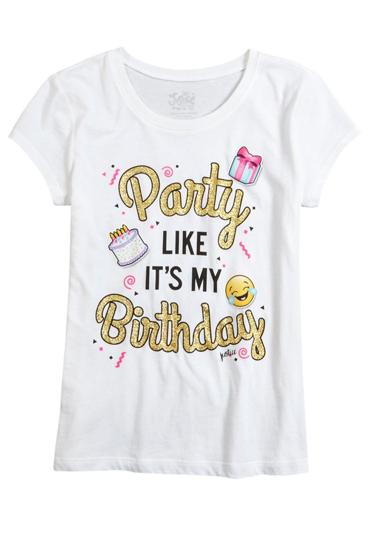 Birthday Party Graphic Tee (original price, $12.00) available at #Justice