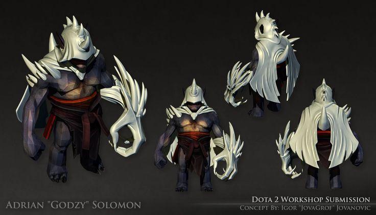 Dota 2 - Lion Set [High Poly], Adrian Solomon on ArtStation at https://www.artstation.com/artwork/dota-2-lion-set-high-poly