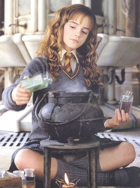 13-year-old Hermione making Polyjuice Potion, despite it being far beyond the standards of second year...