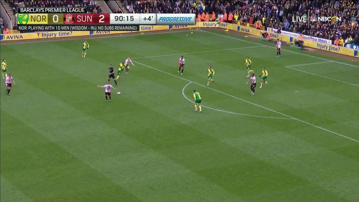 Duncan Watmore scores against Norwich City (0-3)