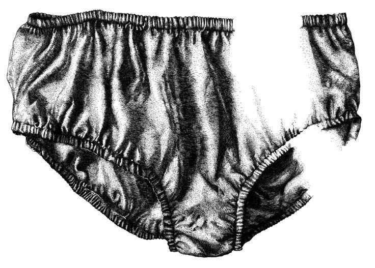 Underwear lines by Sasha Tugolukova