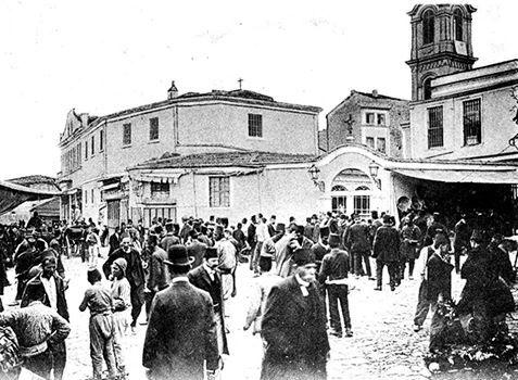 istanbul kadıköy rum klisesi meydanı 1910,ayia efimia rum ortodoks klisesi
