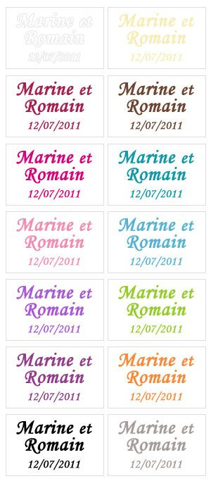 25 Etiquettes Prénoms Autocollantes Transparentes Etiq1 | Notre Collection de boites et présentations de dragées | Mariage.