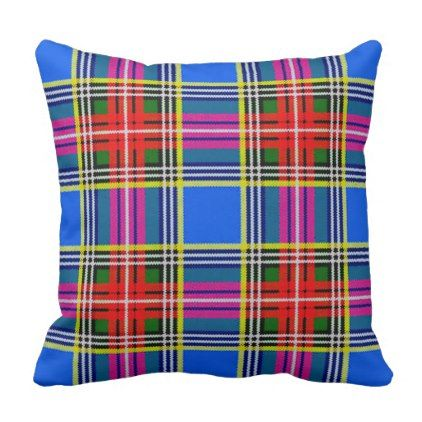 Bethune tartan throw pillow - patterns pattern special unique design gift idea diy