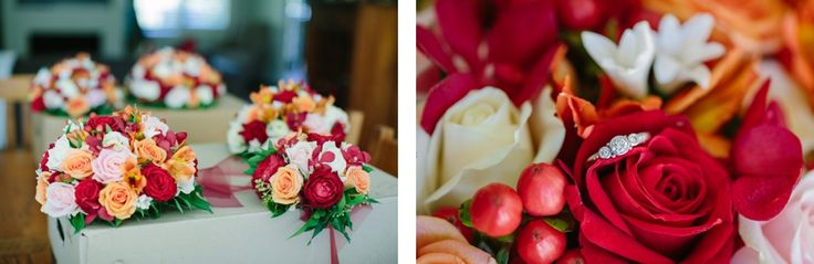 Flower arrangements at Yarra Ranges Estate. Winery Wedding | Yarra Valley Wedding | Dandenong Ranges Wedding
