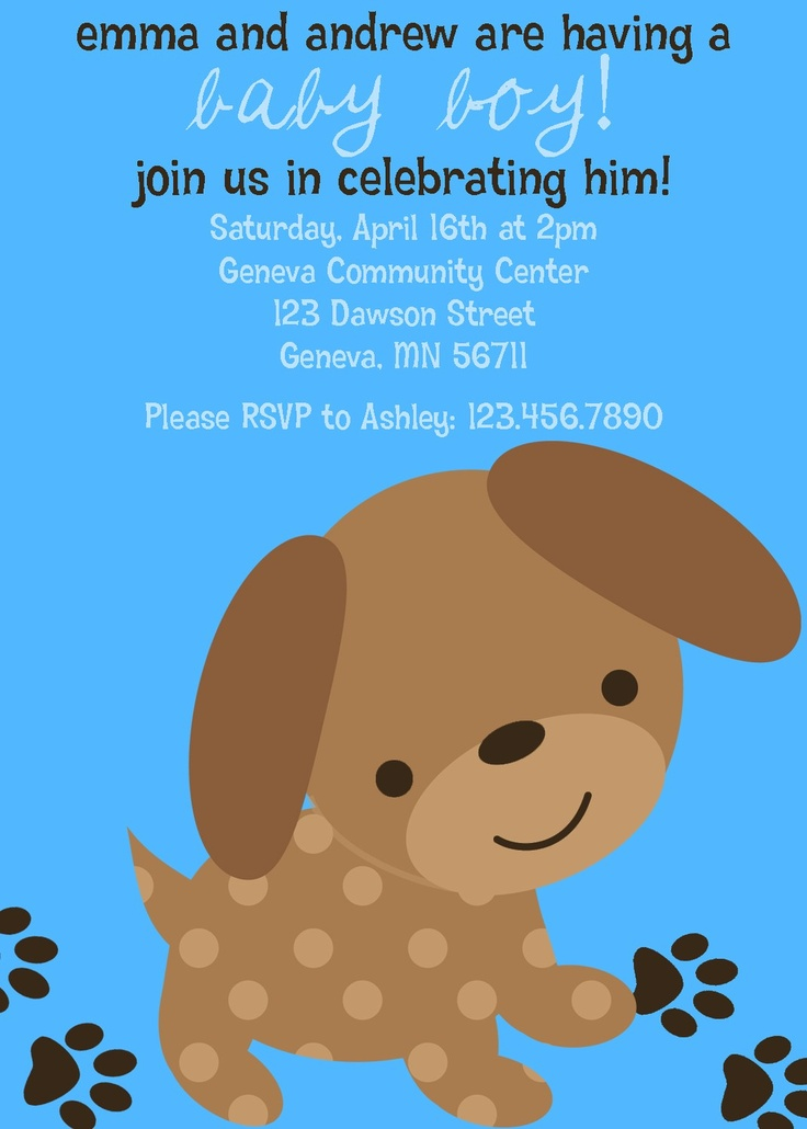 47 best Puppy baby shower images on Pinterest | Dog parties ...