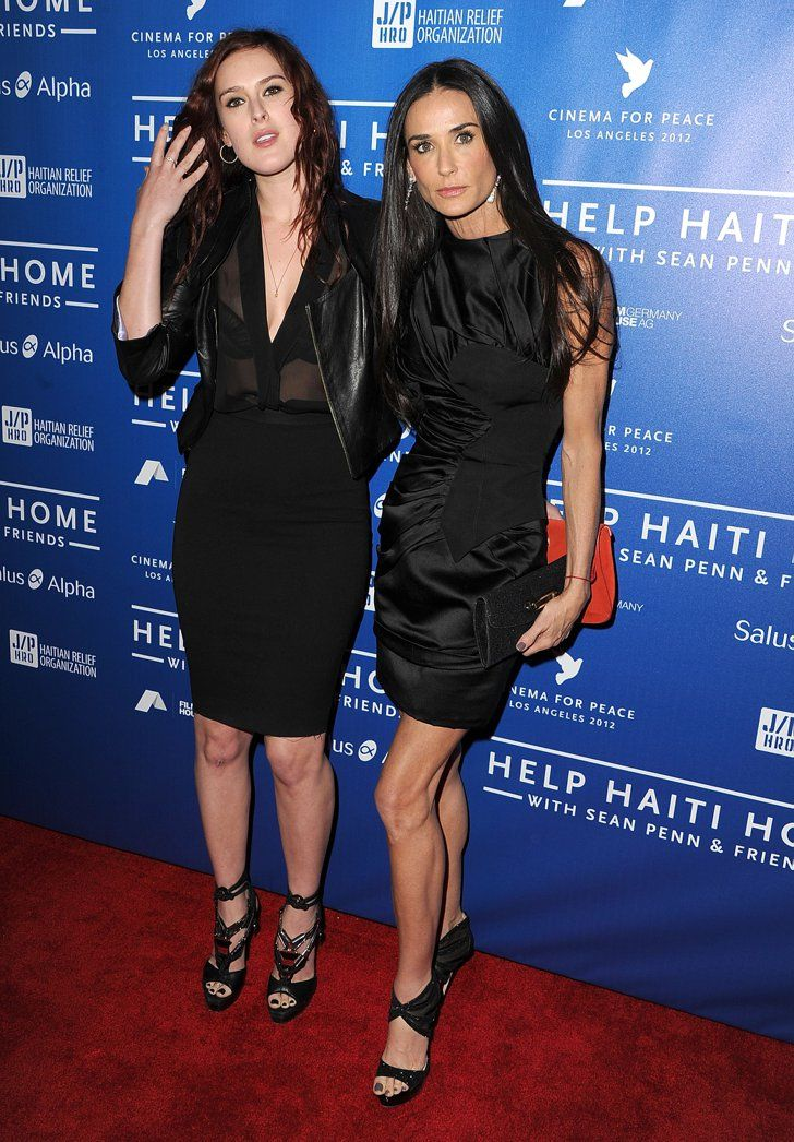 Pin for Later: Famous Moms Get Cute With Their Famous Kids Demi Moore Demi Moore is the mother of actress Rumer Willis (pictured) as well as Tallulah and Scout Willis.