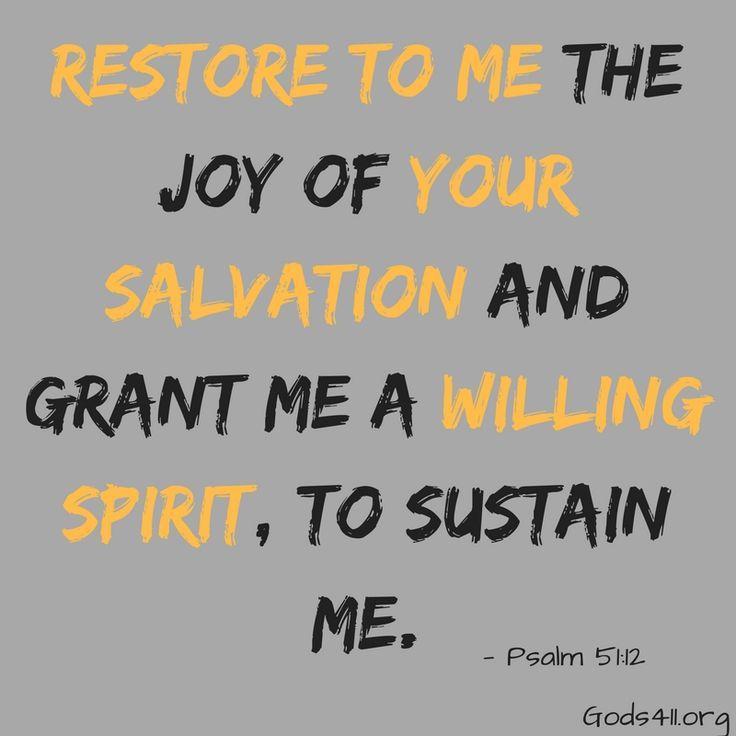 Psalm 51:12 - Bible Verses