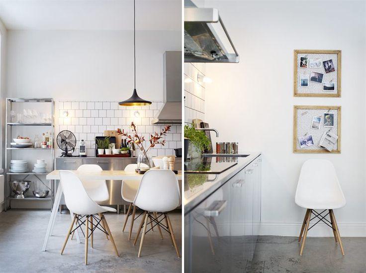 Ongegeneerd naar binnen kijken bij zweeds appartement roomed huis pinterest - Scandinavische kleur ...