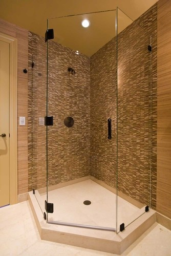 small bathroom corner shower