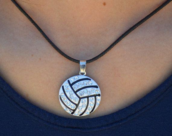 Joyería de voleibol voleibol collar collar de diamantes de