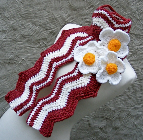 Knitting Pattern Bacon Scarf : 621 best images about Love in every stitch on Pinterest Free pattern, Croch...