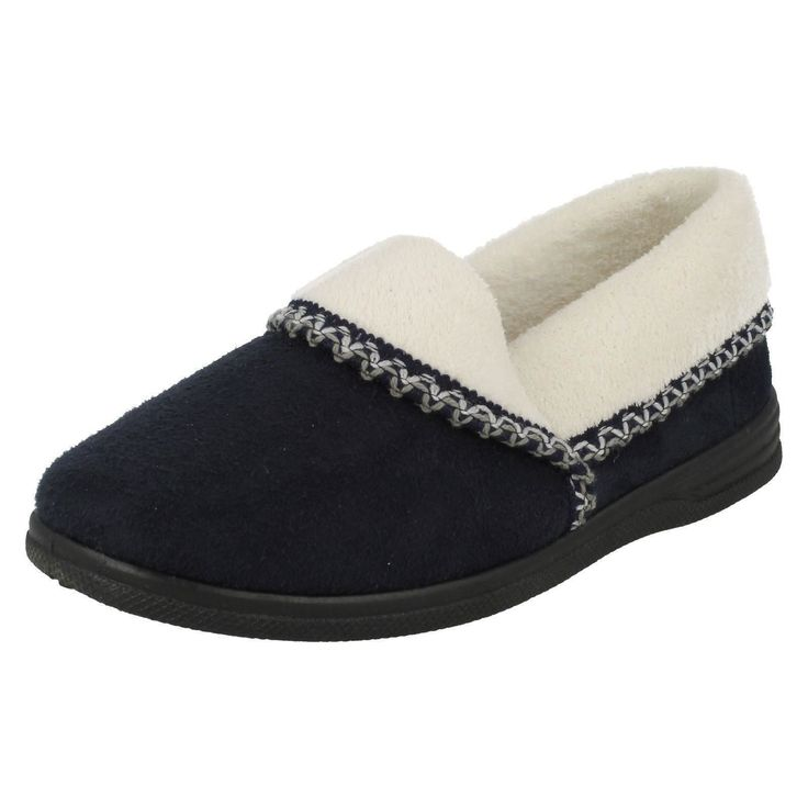 Sale Sandpiper 'Ila' Ladies Navy Warm Lined Comfort House Slippers