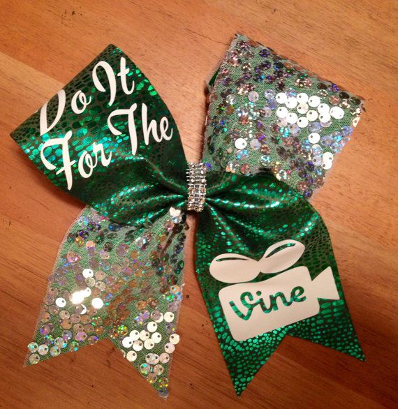 Cheerbows cheer bow do it for the vine cheer bow by Bellabows76, $14.00