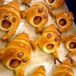 """fun for halloween:  """"dramatic (tofu!) sausage rolls""""  (see 'shadowmanor' link for directions)"""