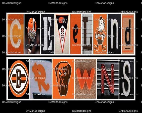 NFL Cleveland Browns Framed Alphabet Photo Art by DAMartndesign, $39.00