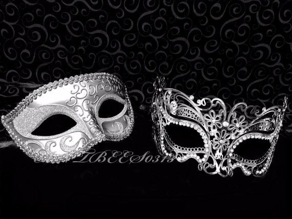 Detailed with intricate Modern Venetian inspired designs  -Extravagant Rhinestone are beautifully encrusted on the high points of the mask to