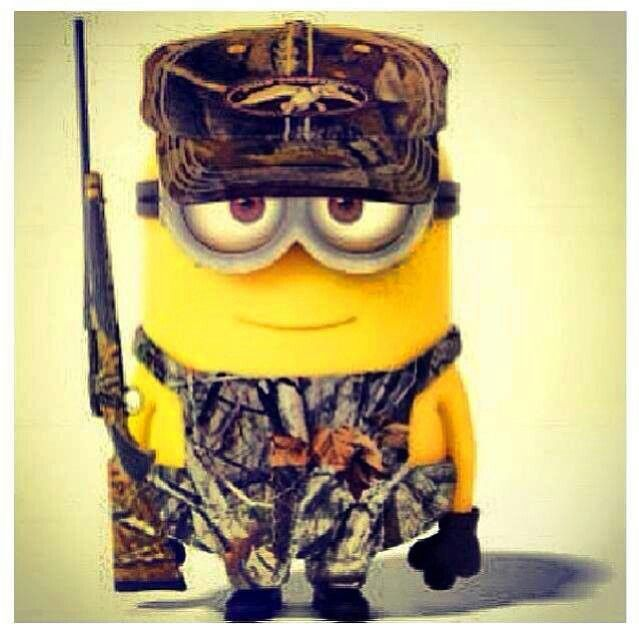 """Not that """"redneck"""". But who cares its a minion with a gun!"""