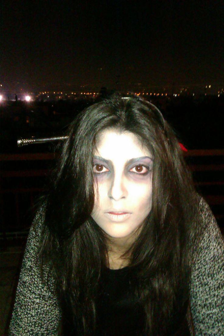 creepy scary halloween make up