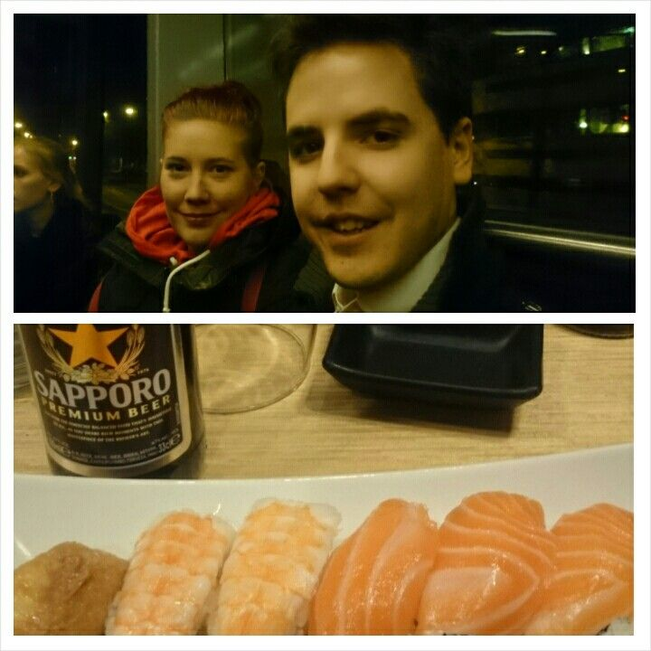Sushi night out, and a stranger taking a picture of us. #day30of365