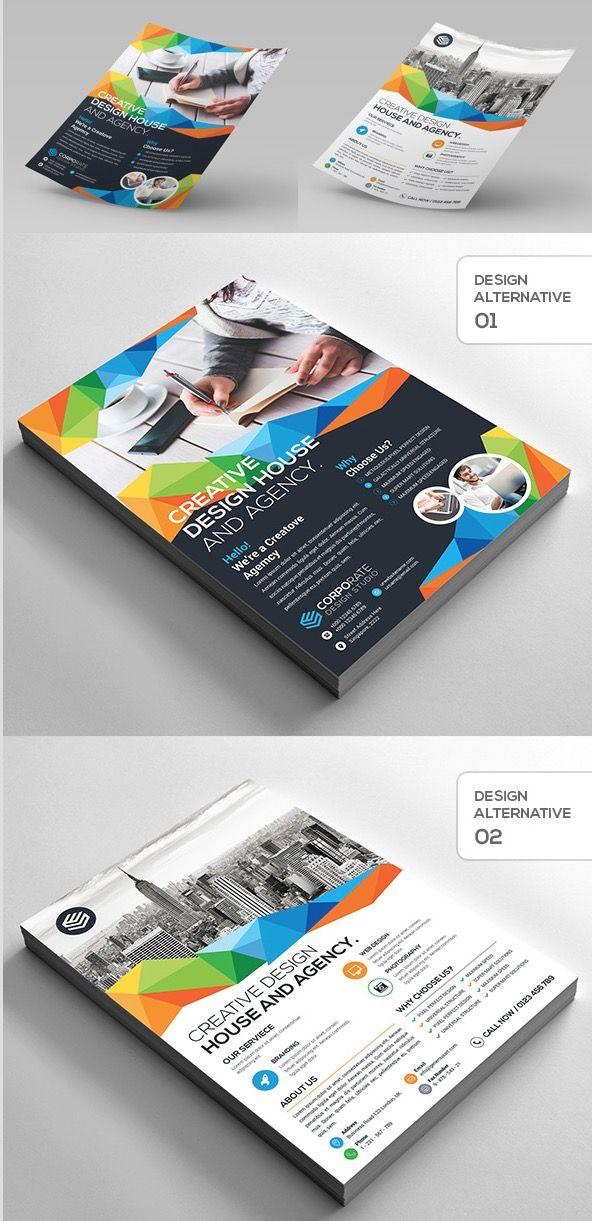 2 design creative corporate flyer