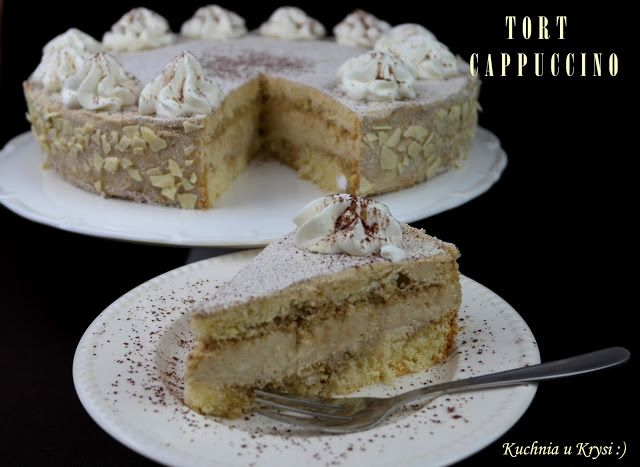 Kuchnia u Krysi : Tort CAPPUCCINO, moja wersja... na czwarte urodziny bloga