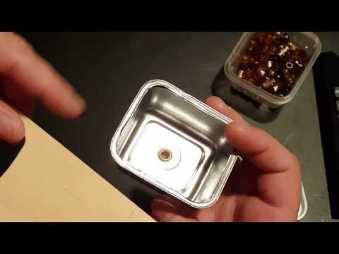Miniature Stainless Steel Sink - YouTube