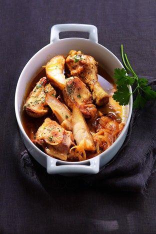Sauté de poulet aux coings - Larousse Cuisine