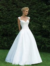 White Cap Sleeve Debutante Ball Dress. Pretty, Sophisticate and Timeless