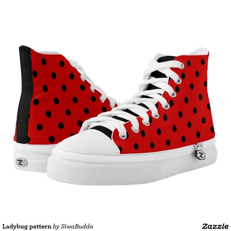 Ladybug pattern printed shoes