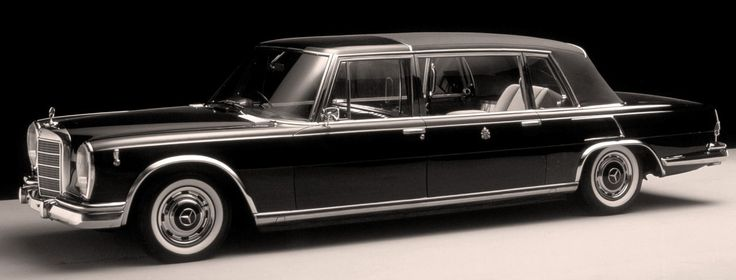 Mercedes Benz 600 Pullman Landaulet. The ultimate version of Mercedes W100, 59 Landaulets were built during the 60s and into the 70s for various world leaders including the Pope and Saddam Hussein.