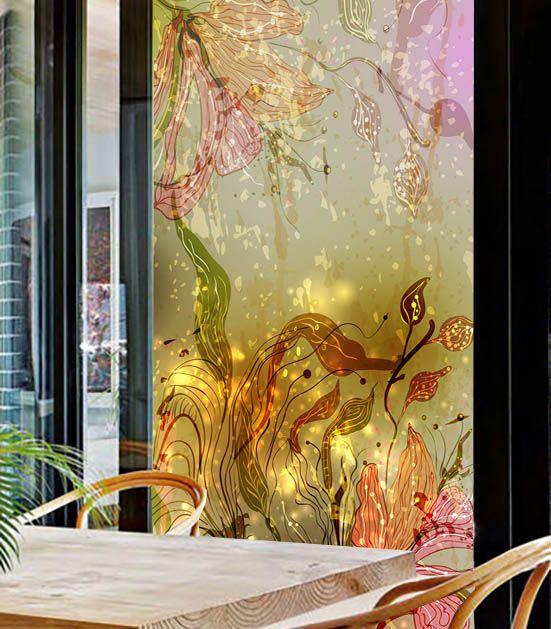 Günstige Privatsphäre aufkleber auf die fenster kleiderschrank glasschiebetür aufkleber mode blumen dekorative glasmalerei opake folie, Kaufe Qualität Dekorative Filme direkt vom China-Lieferanten: der preis ist für 60 cm breite X 100 cm länge. wir können kundenspezifische größe als antrag. willkommen für ihre