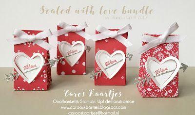 Caro's Kaartjes - voor Stampin' Up! inspiratie en het bestellen van Stampin' Up! producten: Alles is Liefde - Sealed with love kleine traktati...