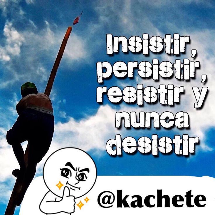 Insistir, persistir, resistir y nunca desistir. #kachete #Vida #Coaching…
