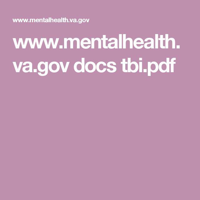 www.mentalhealth.va.gov docs tbi.pdf