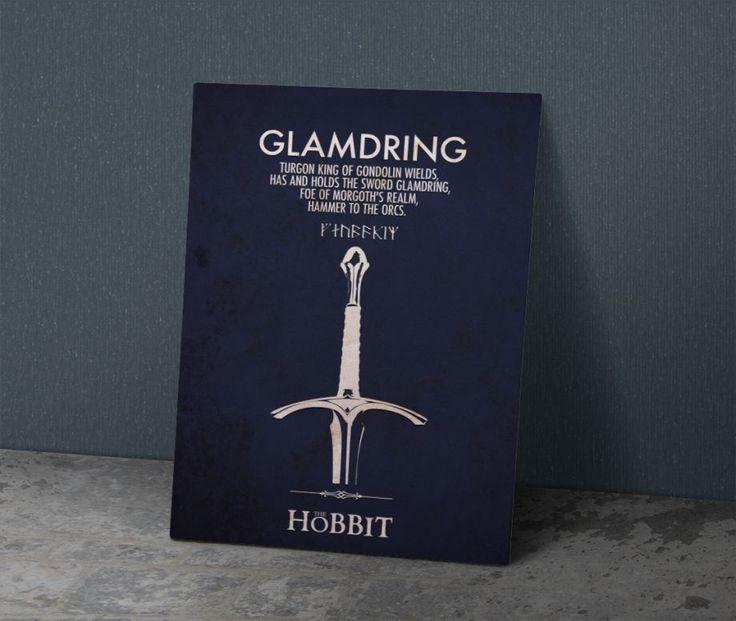 ( Glamdring ) Gandalf 'ın Kılıcı - Metal Poster 40X28 cm ebatlarında javvuz…