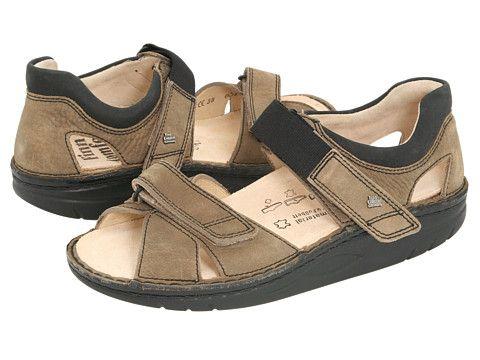 Finn Comfort Samara - 1560. SamaraMudBlack LeatherChoicesSandalSandalsShoes  Sandals