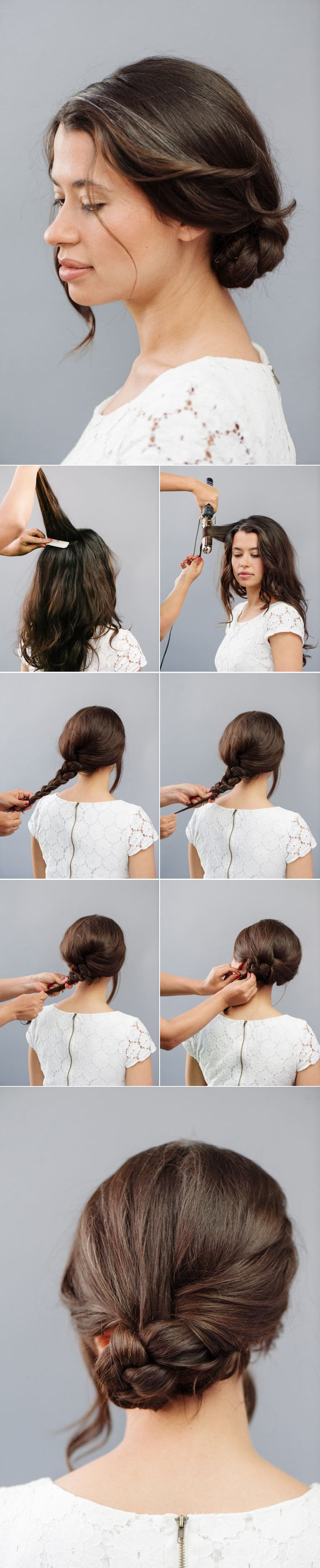 How To: Braided Bun (with the best braid trick you've EVER seen.)