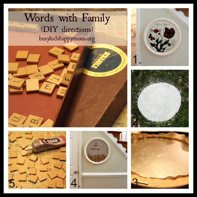 Busy Kids = Happy Mom: Words with Family - Magnetic Scrabble Board