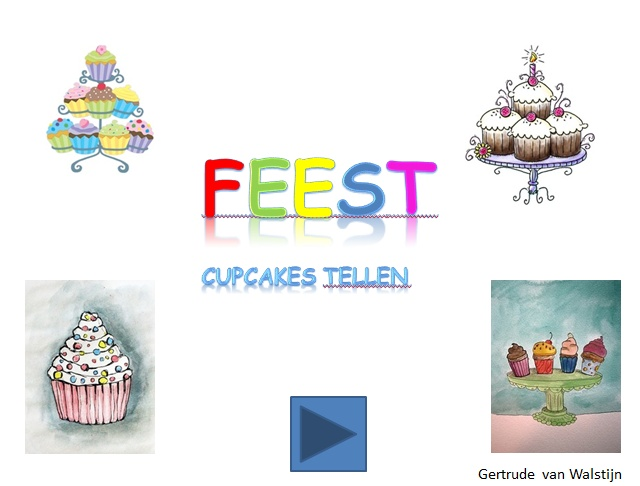 Digibordles feest: cupcakes tellen  http://leermiddel.digischool.nl/po/leermiddel/00c7c100307630d82f0db806c91cafd4