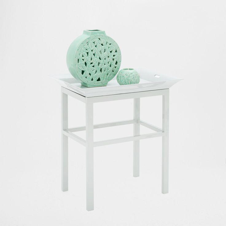 WHITE TABLE WITH A TRAY - | Zara Home United Kingdom
