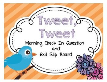 Exit Slip Board