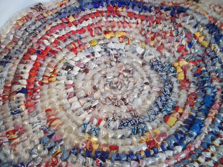 Bread Bag Rug Colorful Just Like My Gram Used To Make