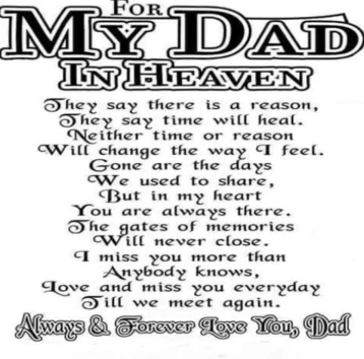Best 25+ Dad In Heaven Ideas On Pinterest