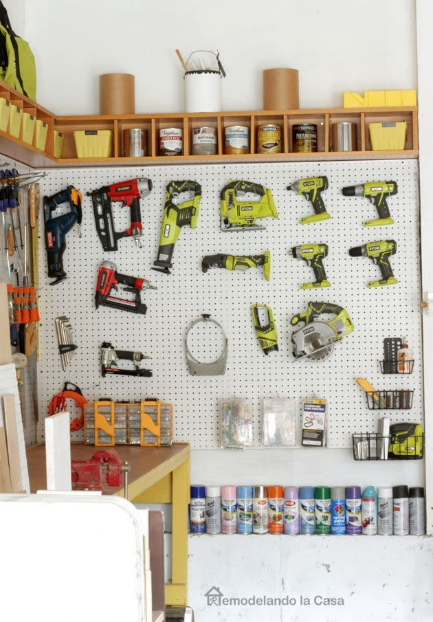 244 best How to set up tool pegboard images on Pinterest | Garages ...