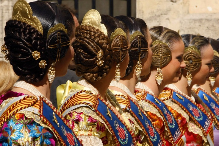 Falleras in the most popular celebration of Valencia: Fallas. Don't miss them, they start shortly this month!