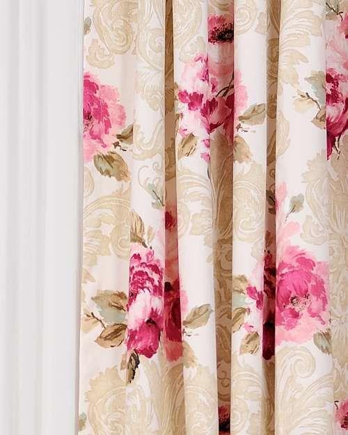 Perdele si draperii :: Draperii confectionate :: Draperie Mariel Panama roz, auriu
