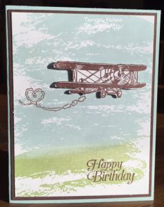 Stampin' Up! Sky is the Limit, Watercolor Wash. sale a bration card