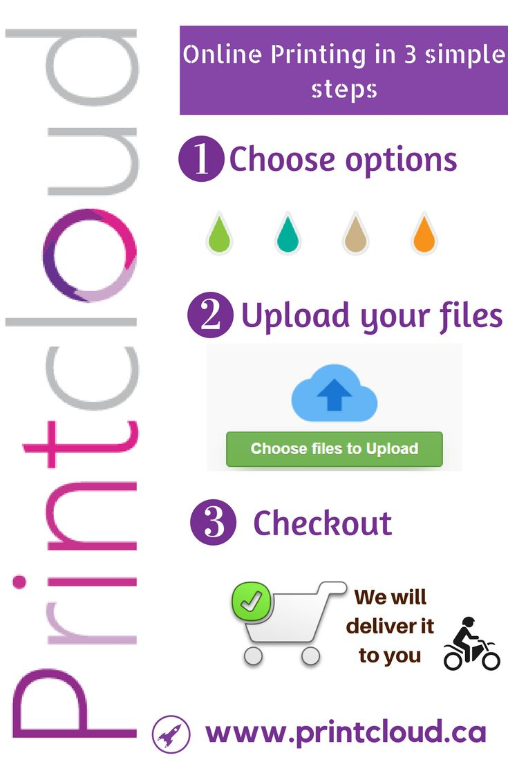 Printing is easy with Printcloud. Just choose your desired printing service, upload file and then checkout. We will print & directly ship it to you.